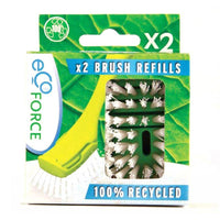 Ecoforce Recycled Dish Brush Refill (2 Pack) - TheVeganKind