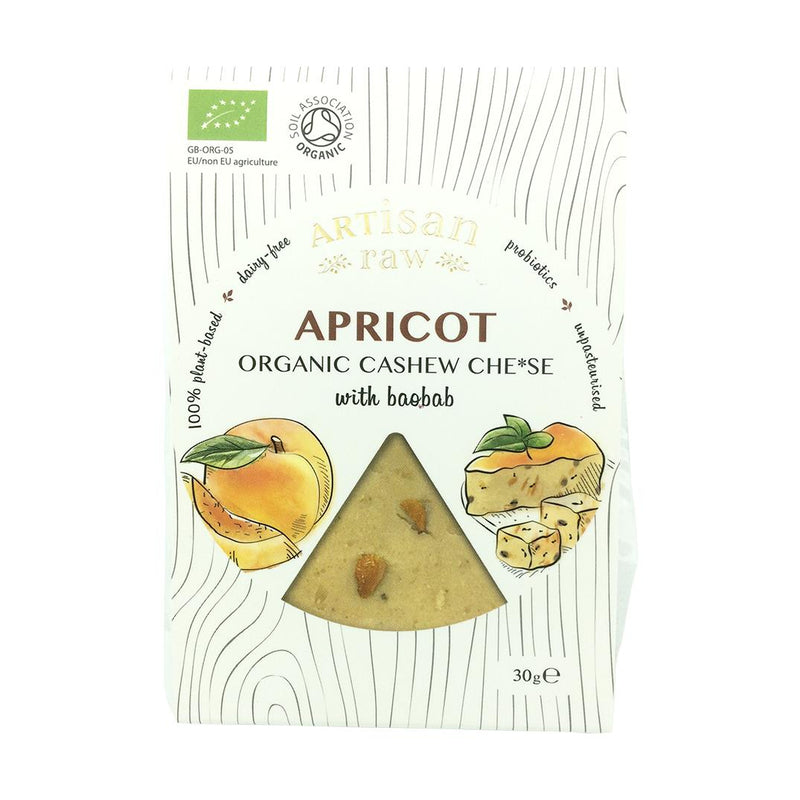 Artisan Raw - Organic Apricot With Baobab Cashew Cheese (30g)