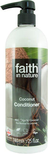 XL Faith In Nature Coconut Conditioner (With Hand Pump) (740ml) - TheVeganKind
