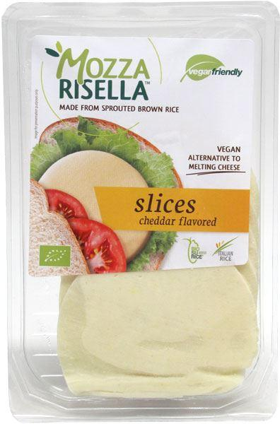 (Best Before 27/08) MozzaRisella Slices - Cheddar flavour (80g) - TheVeganKind
