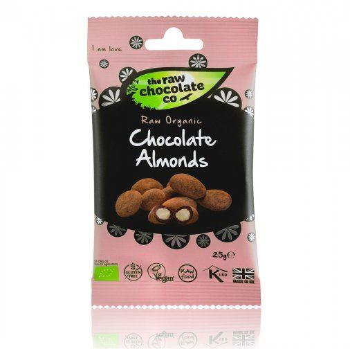 The Raw Chocolate Co - Raw Organic Chocolate Almonds (110g) - TheVeganKind