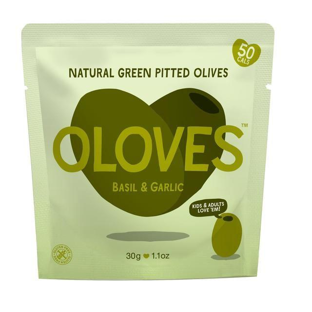 Oloves - Marinated Pitted Green Olives - Basil & Garlic (30g)