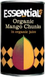 Essential Trading Organic Mango Chunks in Juice (400g) - TheVeganKind