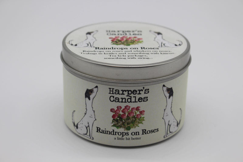Harper's Candles - Floral Candle - Raindrops on Roses