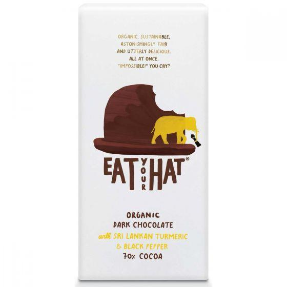 Eat Your Hat - Dark Chocolate with Turmeric (91g) - TheVeganKind
