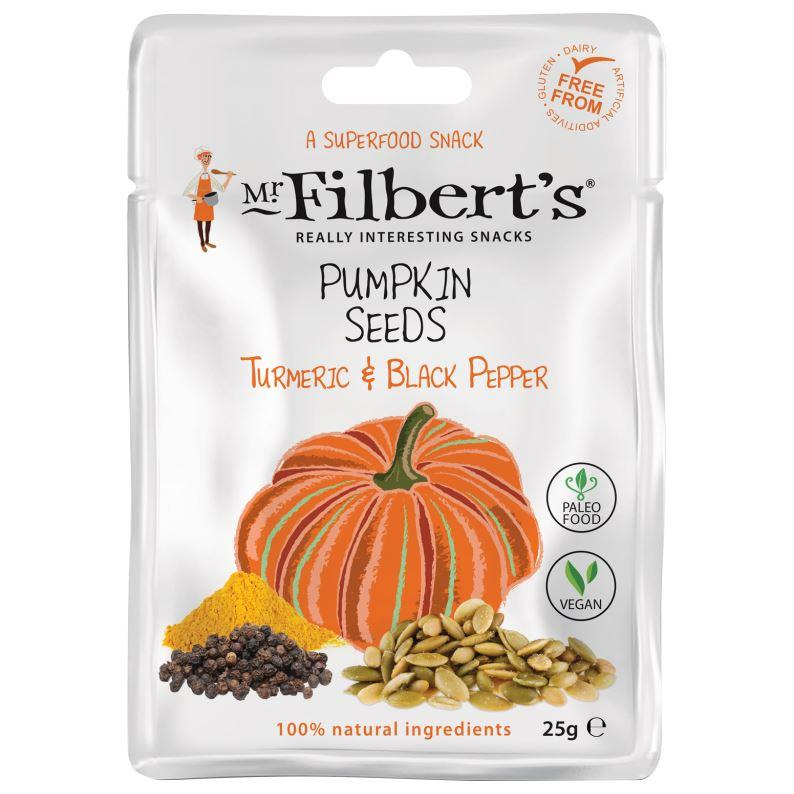 Mr Filberts - Pumpkin Seeds - Turmeric & Black Pepper (25g)
