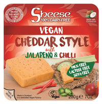 Bute Islands - Sheese 100% Dairy Free Cheese - Cheddar Style with Jalapeno & Chili Block (200g) - TheVeganKind