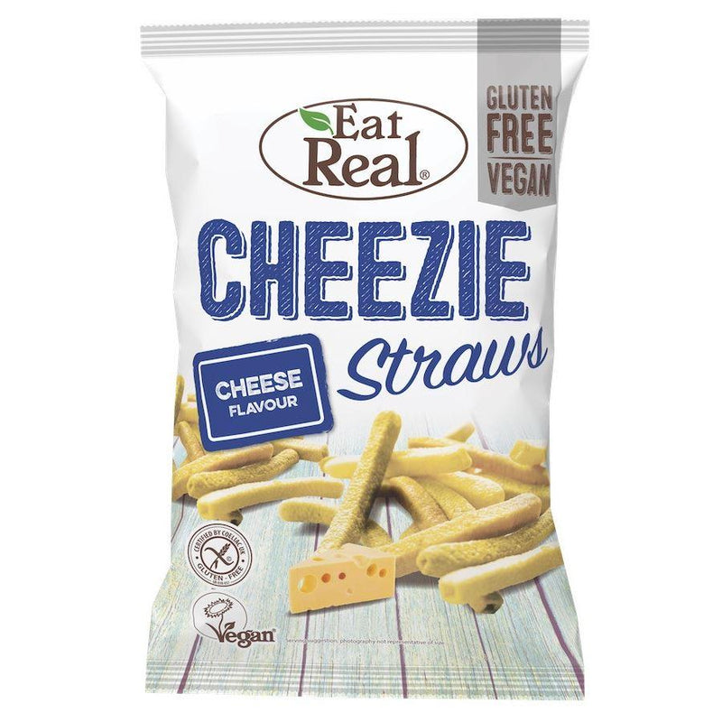Eat Real - Cheezie Straws (113g) - TheVeganKind