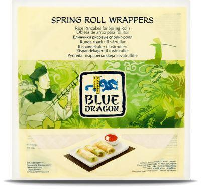 Blue Dragon - Spring Roll Wrapper - Gluten Free (134g) - TheVeganKind