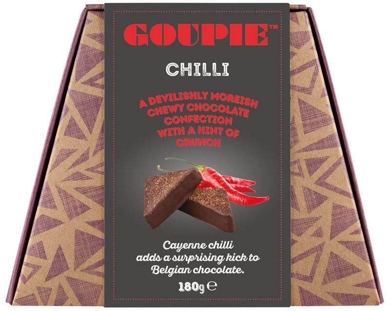 Goupie - Chilli (Devilishly Moreish Chocolate Confection) (180g)