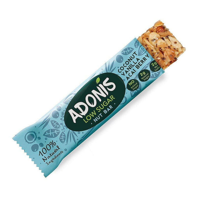 Adonis - Natural Low Sugar Vanilla Nut Bar (35g) - TheVeganKind