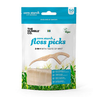 Humble Brush - Natural Corn Starch Floss Picks - Mint (50 pack)