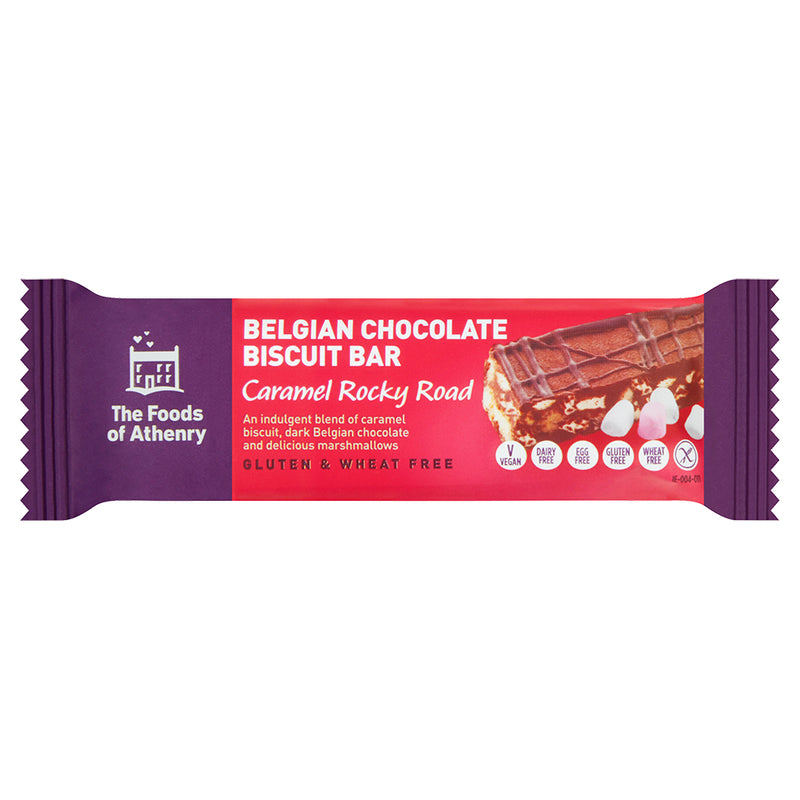 The Foods of Athenry - Caramel Rocky Road - Belgian Chocolate Biscuit Bar (55g)