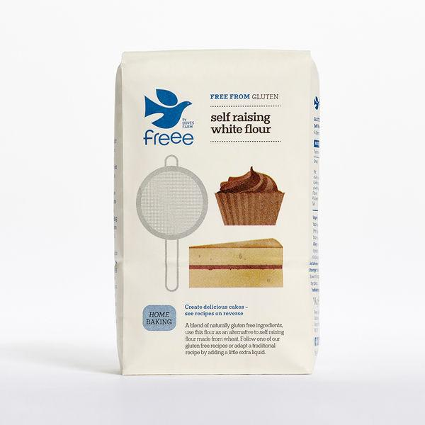 Doves Farm Organic Free From Gluten Self Raising White Flour (1KG) (GLUTEN FREE) - TheVeganKind