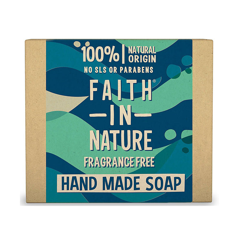 Faith In Nature Hand Made Soap, Wild Harvested Seaweed (Fragrance Free).