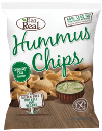 Eat Real Hummus Chips - Creamy Dill (135g) - TheVeganKind
