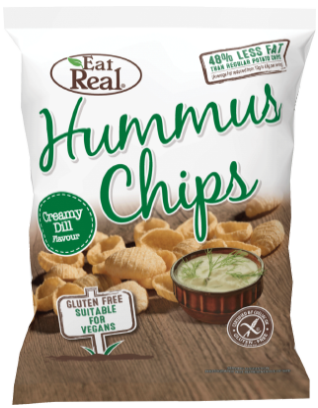 Eat Real Hummus Chips - Creamy Dill (45g) - TheVeganKind