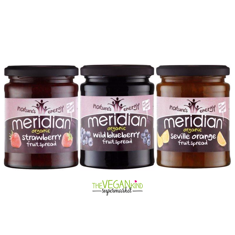 Meridian Organic - Fruit Spreads (Various Types) - TheVeganKind