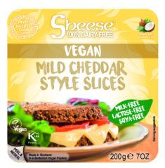 Sheese 100% Dairy Free Cheese - Mild Cheddar Style Sliced Vegan Cheese (200g)