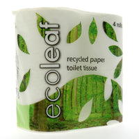 Ecoleaf 4 Pack Toilet Rolls - TheVeganKind