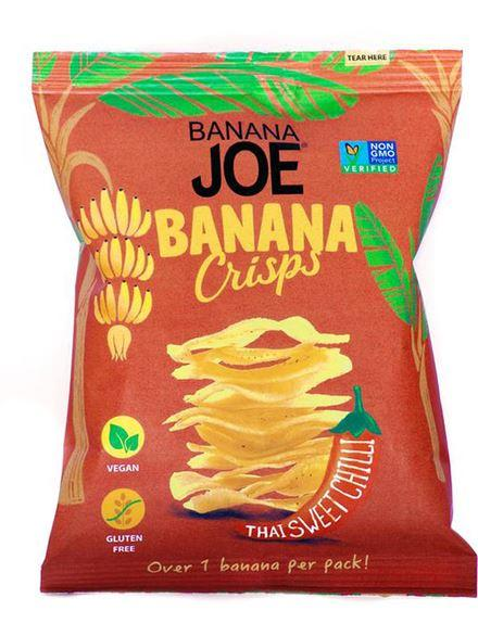 Banana Joe - Banana Chips - Thai Sweet Chilli Crisps (23g) - TheVeganKind