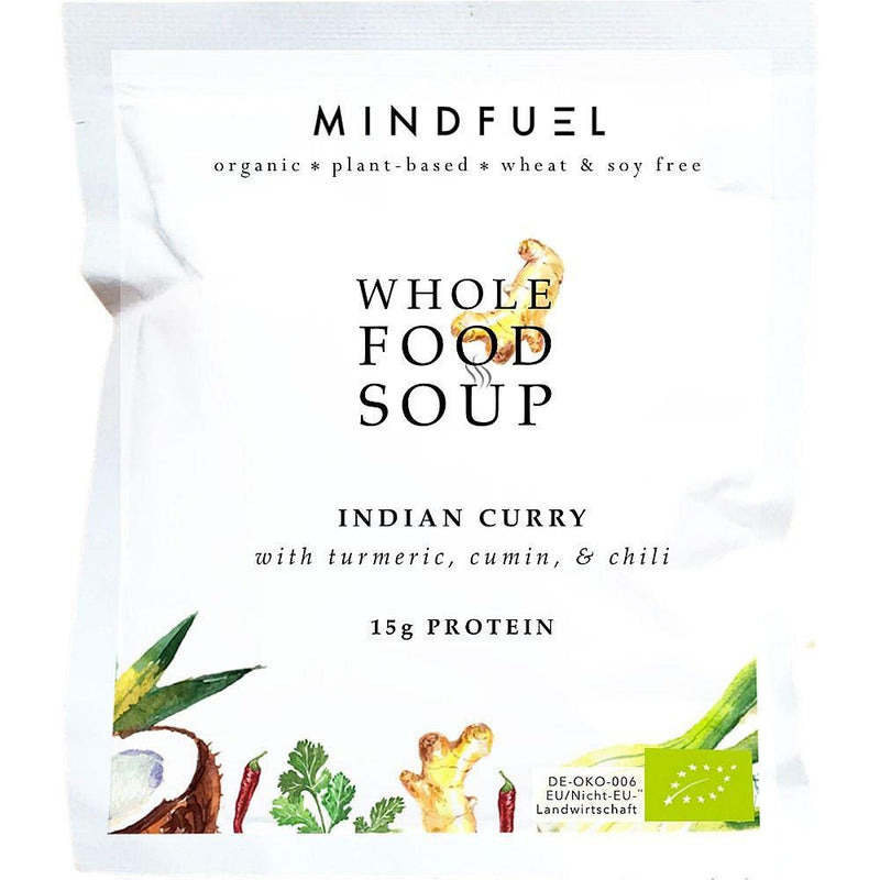 Mindfuel - Organic Whole Food Protein Soup - Indian Curry (53g)