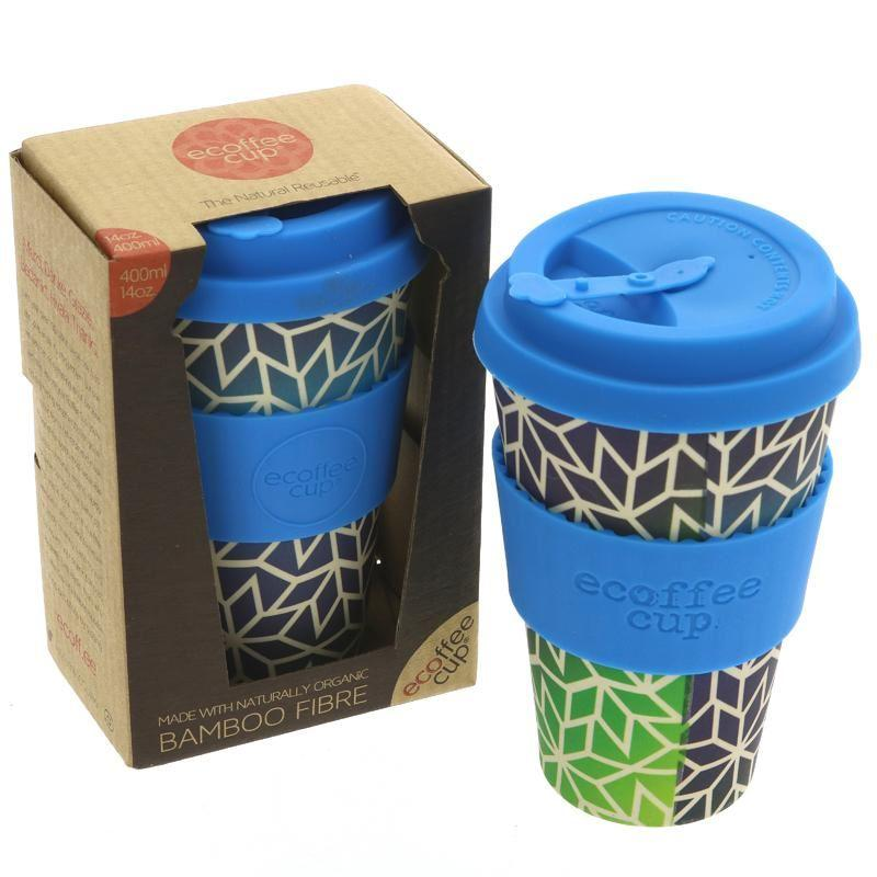 "Ecoffee cup - ""Stargate"" Design Reusable Coffee Cup (400ml) - TheVeganKind"