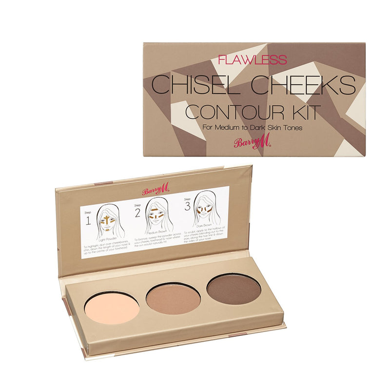 Barry M Flawless Chisel Cheeks Contour Kit (Various) - TheVeganKind