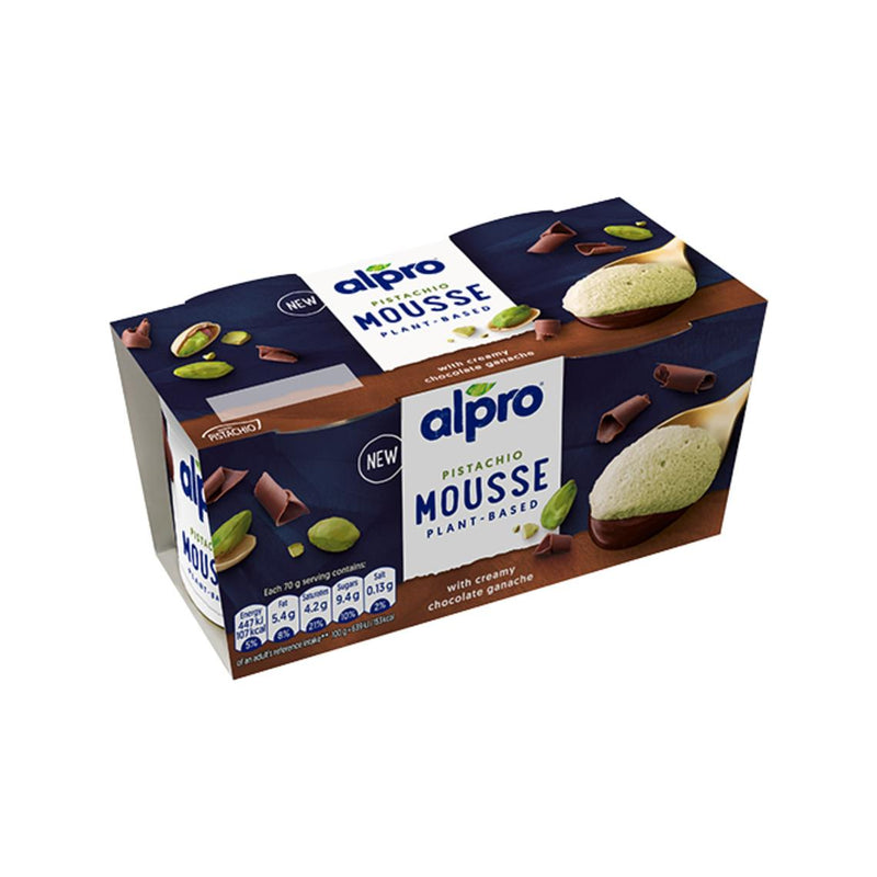 Alpro - Pistachio Mousse with Creamy Chocolate Ganache (2x70g)