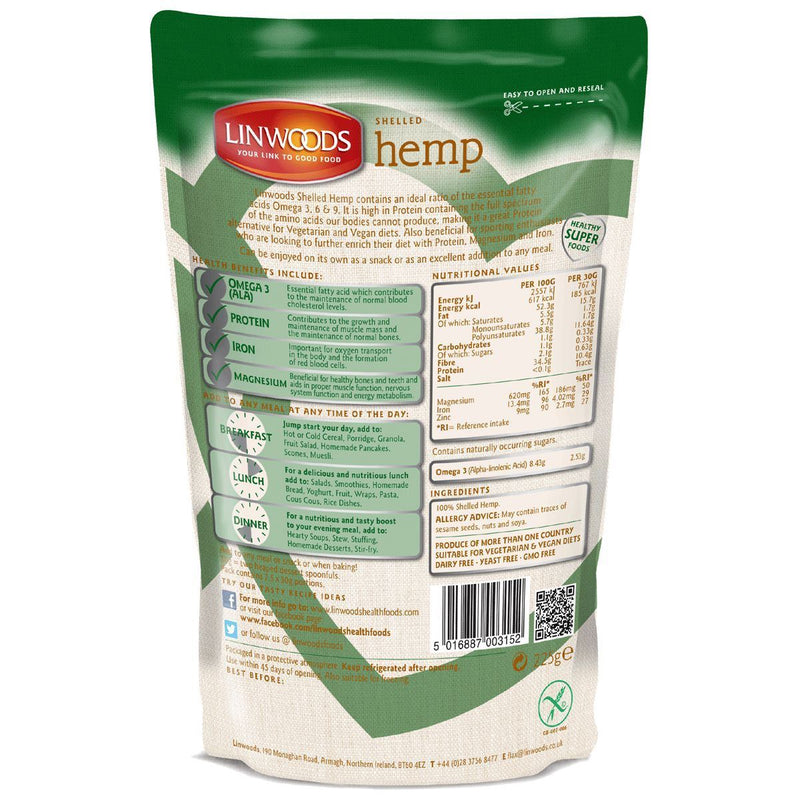Linwoods - Shelled Hemp Seeds (225g)