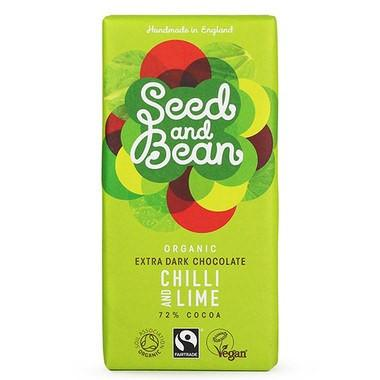 Chocolate - Seed & Bean Organic Fairtrade Chilli & Lime Chocolate Bar