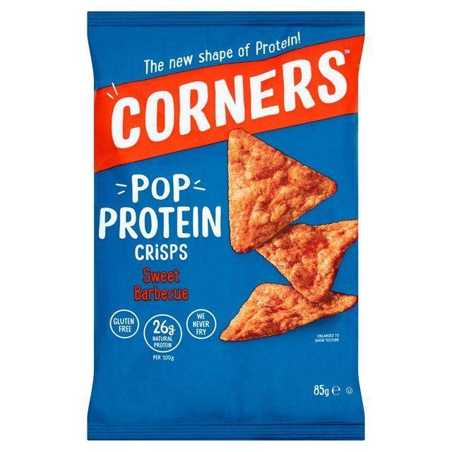 Crisps, Chips & Popcorn - Corners - Pop Protein Crisps - Sweet Barbecue (85g)