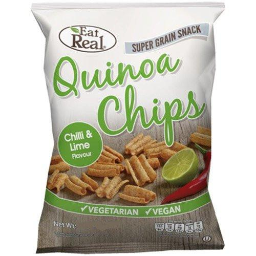 Eat Real Chilli & Lime Quinoa Chips (Various sizes) - TheVeganKind