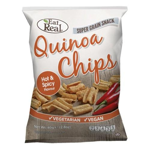Eat Real Hot & Spicy Quinoa Chips (Various Sizes) - TheVeganKind