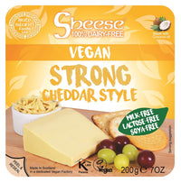 Bute Islands - Sheese 100% Dairy Free Cheese - Strong Cheddar Style Wedge (200g) - TheVeganKind