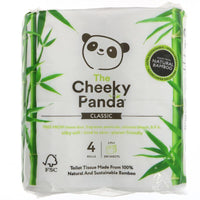 The Cheeky Panda - Natural Bamboo Toilet Tissue (4 rolls)