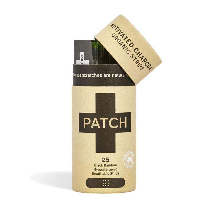 Patch - Organic Bamboo Biodegradable Plasters - Activated Charcoal (25 plasters)