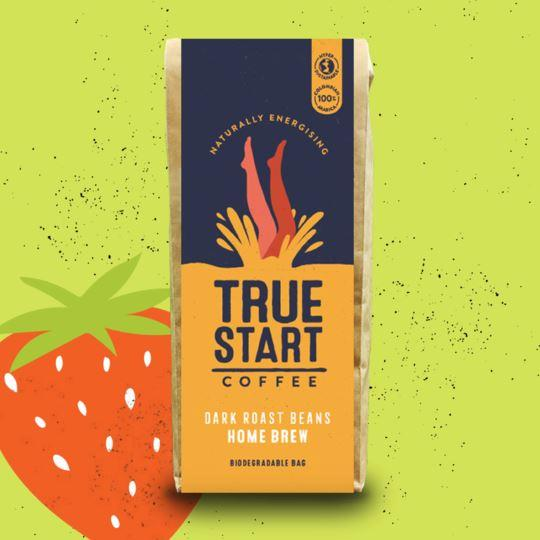 TrueStart - Home Brew Coffee - Premium Dark Roast Beans (200g)