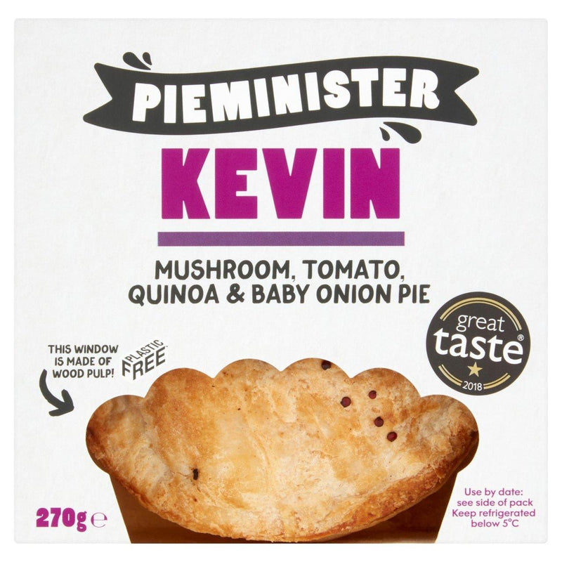 Pie Minister - Kevin - Mushroom, Tomato Pie with Baby Onions (270g)