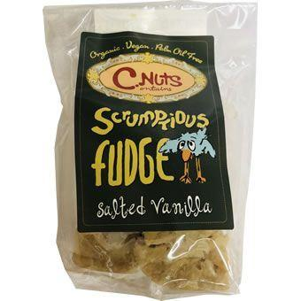C.Nuts - Organic Salted Vanilla Fudge with Vanilla Essence & Himalayan Salt Bag (150g)