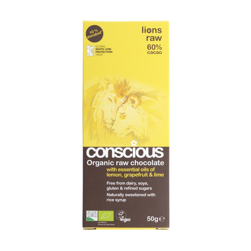 Conscious - Organic Raw Chocolate - Lions Raw 60% (50g)