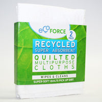 Ecoforce Recycled Super Absorbent Quilted Multipurpose Cloths (2 Pack) - TheVeganKind