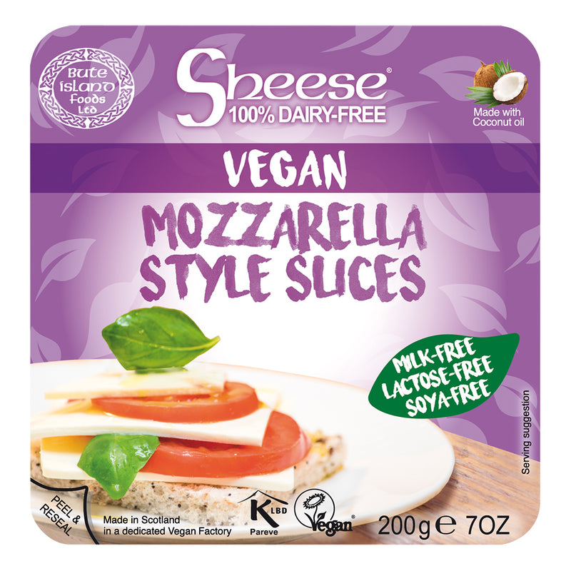 Sheese 100% Dairy Free Cheese - Mozzarella Melty Sliced Vegan Cheese (200g)