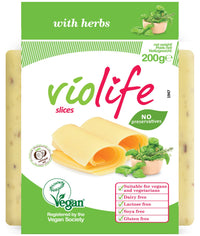 (BEST BEFORE 28/11) Violife Herbs Flavour Sliced Vegan Cheese (200g) - TheVeganKind