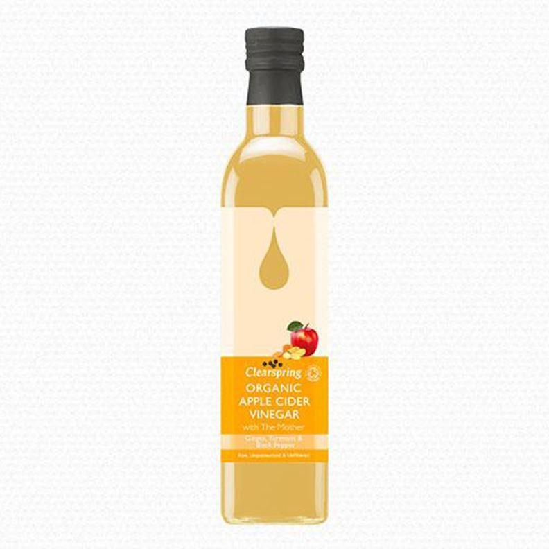 Oils & Vinegars - Clearspring - Organic Apple Cider Vinegar With The Mother - Ginger Turmeric (500ml)