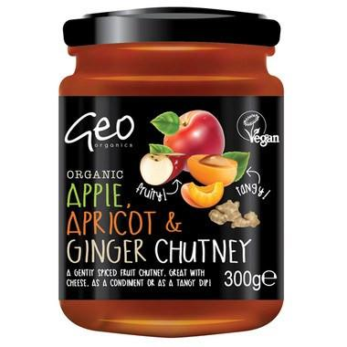 Sauces & Spreads - Geo Organics Apple, Apricot & Ginger Chutney