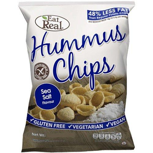 Eat Real Hummus Chips, Sea Salt Flavour (45g) - TheVeganKind