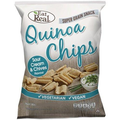 Eat Real Quinoa Chips. Sour Cream & Chives Flavour 30g - TheVeganKind
