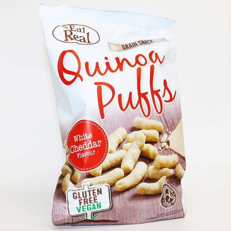Eat Real White Cheddar Quinoa Puffs (113g) - TheVeganKind