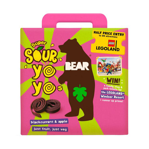 Bear - Multi-Pack Yo-Yo's Super Sour - Blackcurrant & Apple (5x20g)